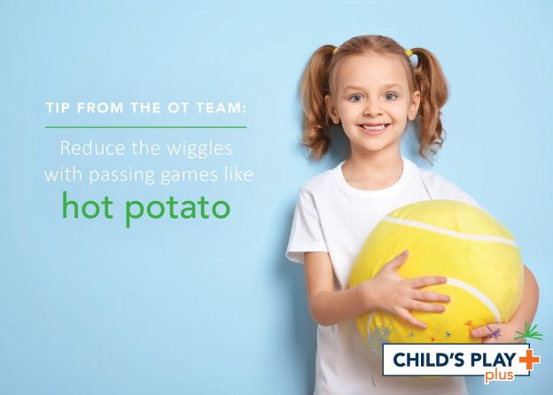 Taking little breaks with proprioceptive input (heavy work) can help reduce the wiggles for your child!