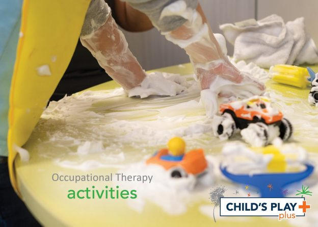 Occupational Therapy at CP+ means engaging our patients in play-based activities that address their goals while having FUN!