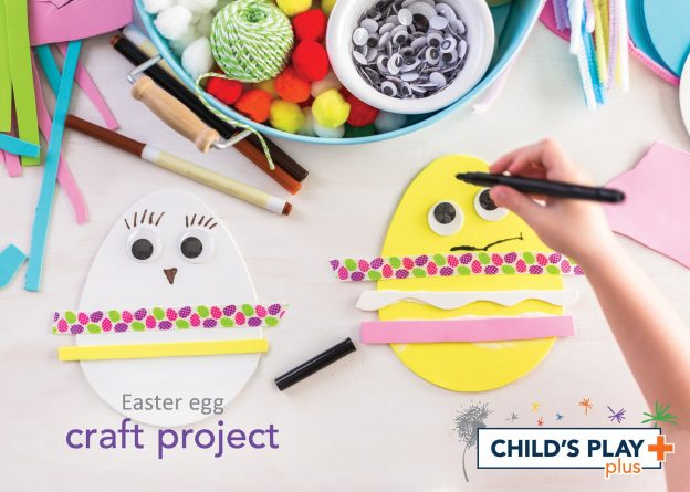 Easter egg craft project